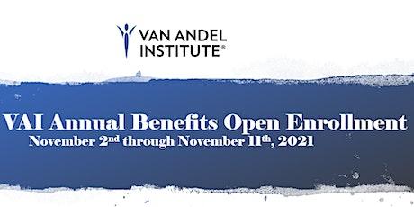 2022 VAI Benefits Open Enrollment 1x1 Meeting tickets