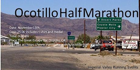 Ocotillo half marathon entradas