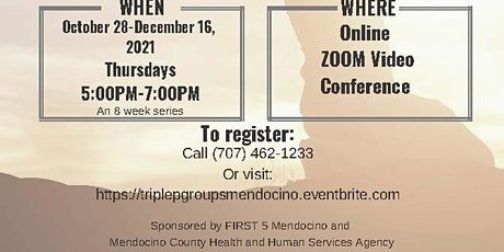 Triple P Parenting Group-ZOOM Video Conference[Oct 28 - Dec 16, 2021] tickets