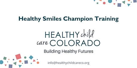 Healthy Smiles Champion Training tickets