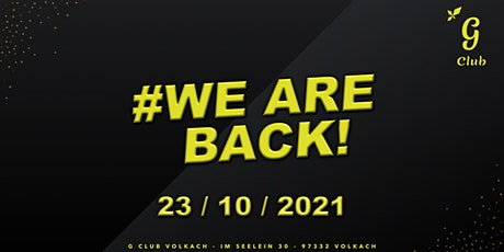 #WE ARE BACK Tickets
