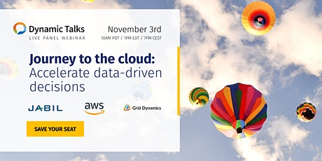 (Webinar) Journey to the cloud: Accelerate data-driven decisions tickets