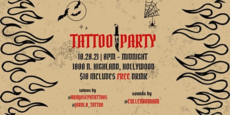 Tattoo Party (Oct 28th – Hollywood) tickets