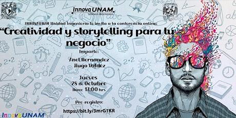 Creatividad y storytelling para tu negocio. tickets