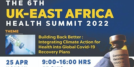 6th UK East Africa Health Summit 2022 tickets