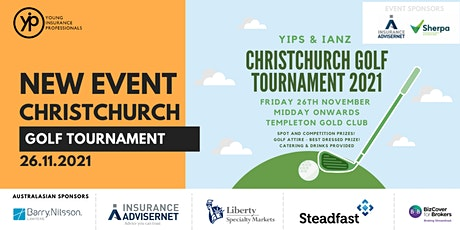 YIPs & IANZ Christchurch Golf Tournament 2021 tickets