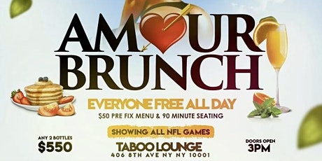Taboo On Sundays: 90 Minute Bottomless Brunch & Day Party In NYC tickets