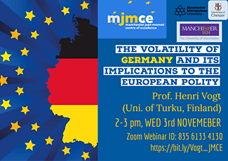 Prof. Henri Vogt - the  German Elections & their implication to EU polity tickets