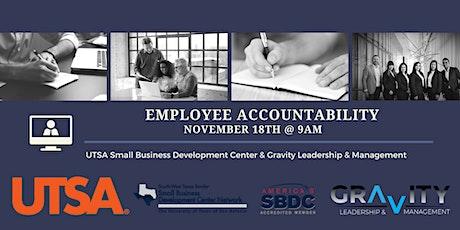 UTSA SBDC & GLM: Employee Accountability - Live Webinar tickets