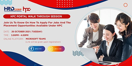 HPC PORTAL WALK THROUGH  SESSION:HOW TO APPLY FOR THE JOBS OPPORTUNITIES tickets