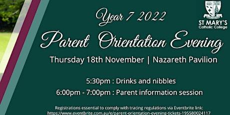 Parent Orientation Evening tickets