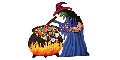 Crafts N Mingle Paint N Sip Wooden Witch with Cauldron tickets