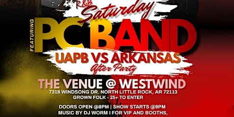 UAPB vs U of A AFTERPARTY with PC BAND tickets