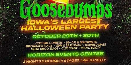 Goosebumps, Iowa's Largest Halloween Party tickets