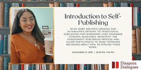 Introduction to Self-Publishing tickets