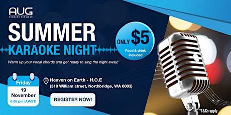 [AUG Perth] Karaoke Night for International Students tickets