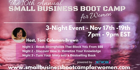 10th Annual Small Business Boot Camp for Women tickets