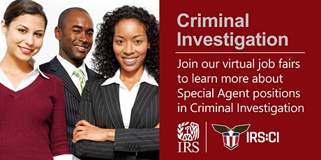 IRS Virtual Job Fair about Criminal Investigation Special Agent Position Tickets