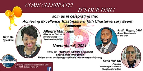 Achieving Excellence Toastmasters 2021 Open House tickets