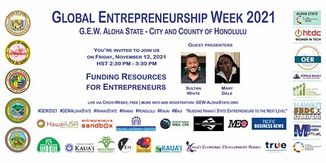 Funding Resources for Entrepreneurs (G.E.W. Aloha State - Honolulu) tickets