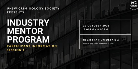 Industry Mentor Program: Participant Information Session 1 tickets