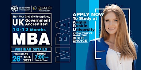 MBA for working Executives- UK AND WES CANADA Approved MBA tickets