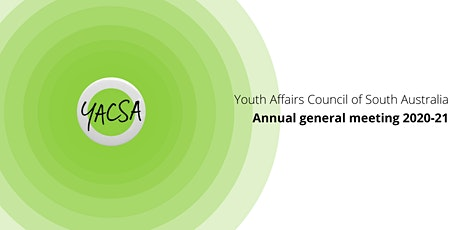 YACSA 2020-21 Annual General Meeting tickets