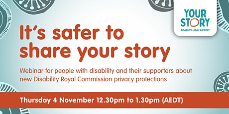 Webinar: It's safer to share your story tickets