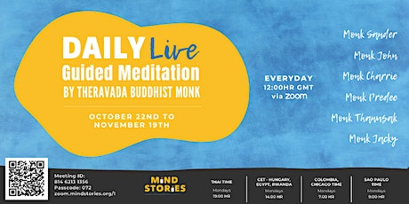 Daily live guided meditation by Buddhist Monks tickets