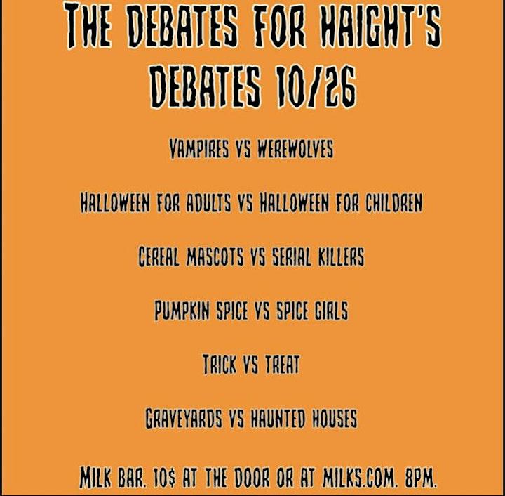 Haight's Debates image