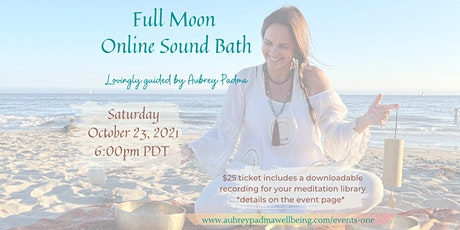 October *online* Full Moon Sound Bath tickets