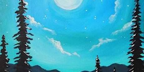 "Sip and Paint  -  ""Blue Moonrise""  Bushfire Kitchen Del Mar tickets"