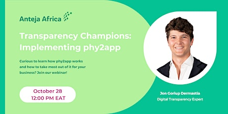Transparency Champions: Implementing phy2app tickets