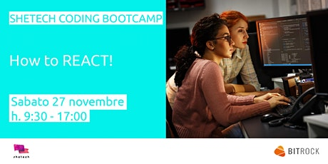SheTech Coding Bootcamp: React biglietti