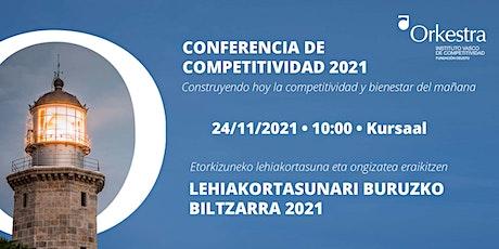 Conferencia de Competitividad del País Vasco 2021 - Presencial (Kursaal) entradas