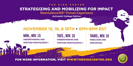 Strategizing and Mobilizing For Impact: Nonviolence365 Virtual Experience tickets