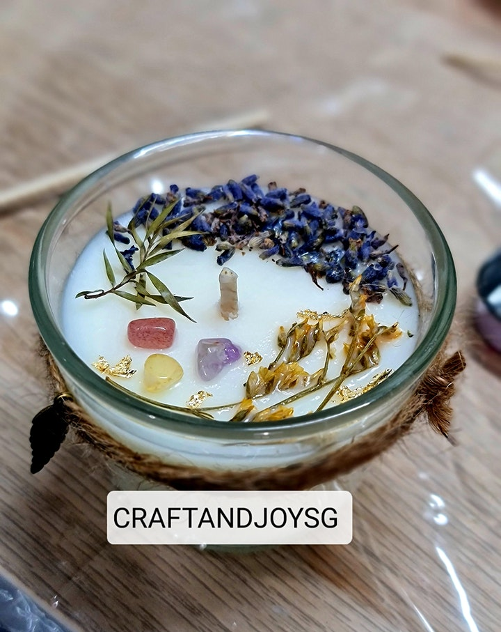 Personalised Scented Soy Candle making workshop image