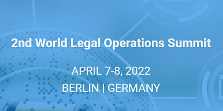 2nd World Legal Operations Summit Tickets