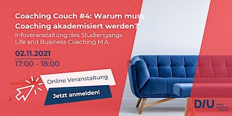 Coaching Couch #4: Warum muss Coaching akademisiert werden? tickets