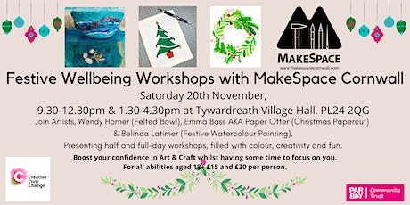 Festive Workshops - Christmas Papercut, Felted Bowl & Nature Painting tickets