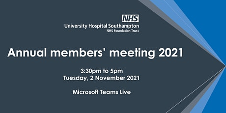 Annual Members' Meeting 2021 tickets