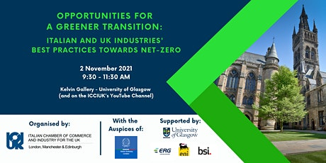 ICCIUK's Conference for COP26    Opportunities for a Greener Transition tickets
