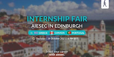 Virtual Internship Fair   AIESEC in Edinburgh tickets
