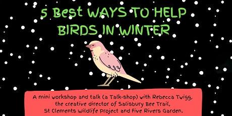 5 best ways to help Birds in Winter 'Talk-shop' tickets