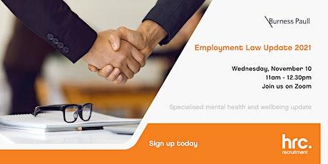 Burness Paull & HRC Recruitment - Employment Law Update 2021 tickets