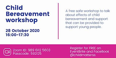 Child bereavement workshop tickets
