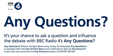 BBC Radio 4 'Any Questions?' broadcast tickets