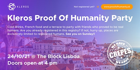 Kleros Proof Of Humanity Party tickets