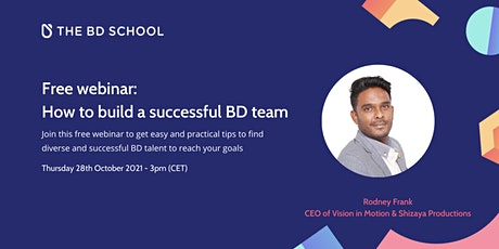 Free Webinar: How to build a successful BD team tickets