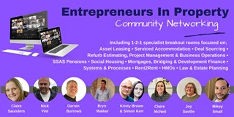 Entrepreneurs In Property  Event 29th October 2021 tickets